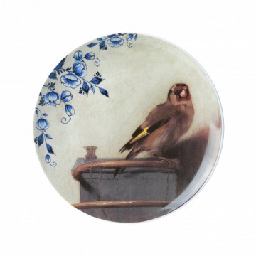 Transferprint wallplate 9.1 inches OUD Delft plate Delft blue plate Blue and White 2 1960s Delft Blue plate